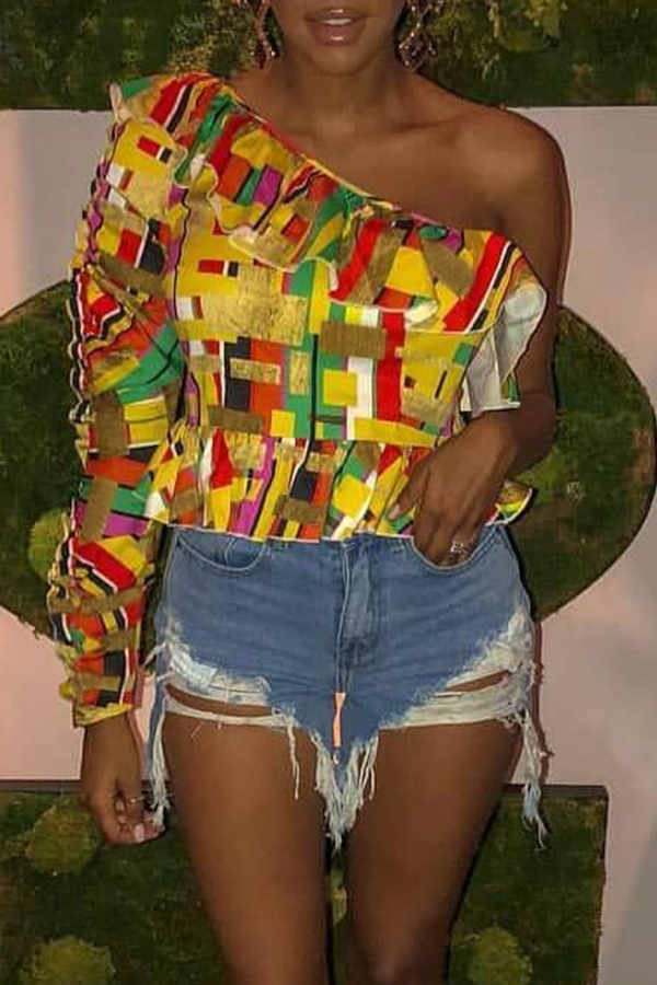 Lovely Trendy Printed Multicolor Twilled Satin T-shirt