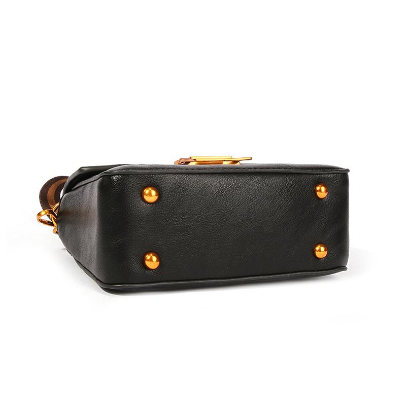 Schöne Modische Reißverschlusstasche Schwarz Umhängetasche