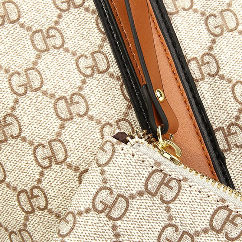 Lovely Vintage Printed Brown Shoulder Bags