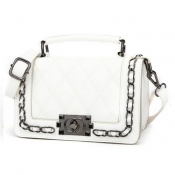 Lovely Elegant Metal Chain Strap White Crossbody B