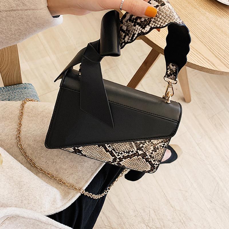 Lovely Fashion Animal Printed Black PU Messenger Bag