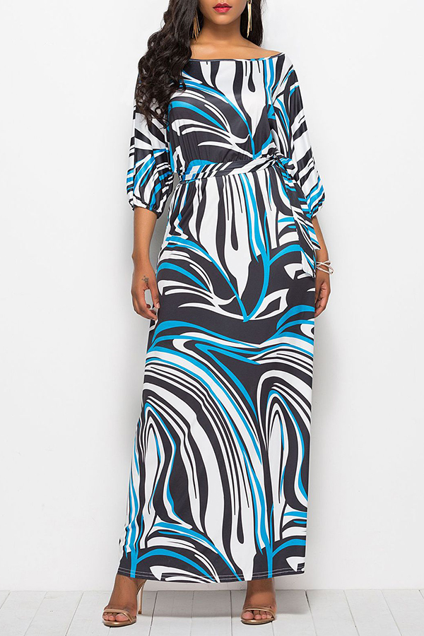 Lovely Work Printed Multicolor Ankle Length Dress