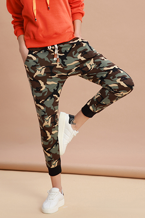 Lovely Casual Camouflage Printed Harlan Pants