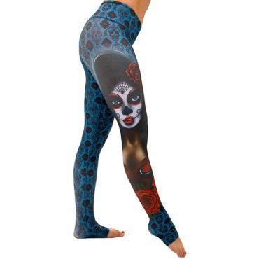 Lovely Trendy Printed Skinny Blue Blending Pants