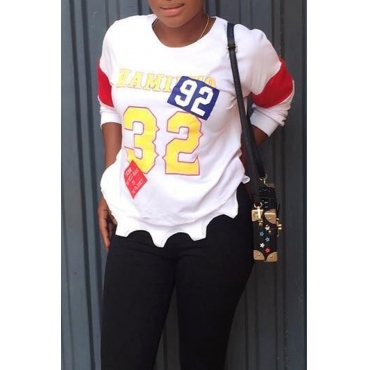 Lovely Trendy Letters Printed White Hoodies