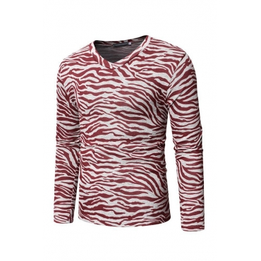 Lovely Casual Animal Printed Red Blending T-shirt