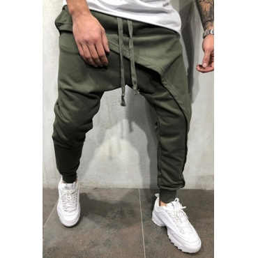 Lovely Casual Drawstring Harlan Army Green Cotton Pants