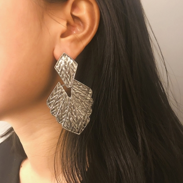 Lovely Fashion Irregularity White Alloy  Earring