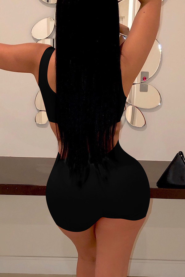890951570fb0 Lovely Sexy Black PU Two-piece Shorts Set_Two Pieces_LovelyWholesale ...