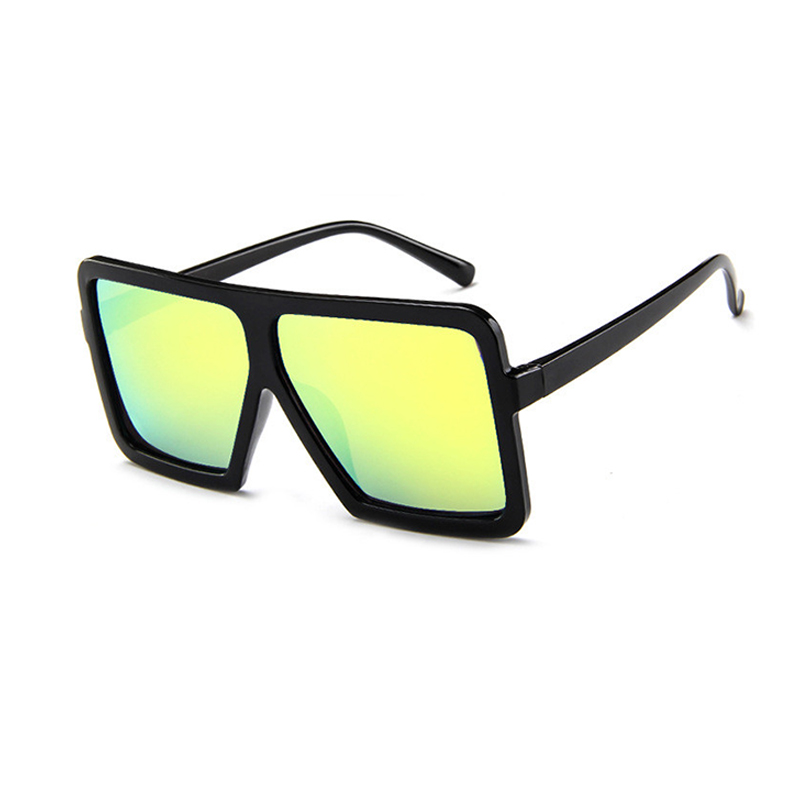 Lovely Stylish Square Frame Design Yellow PC Sunglasses