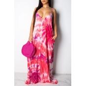 Bel Vestito Con Stampa Sul Pavimento Rosa Senza Schienale Dolce