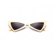 Lovely Stylish Asymmetrical Beige PC Sunglasses