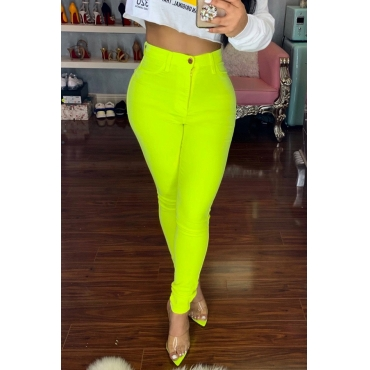 Lovely Trendy Skinny Yellow Pants