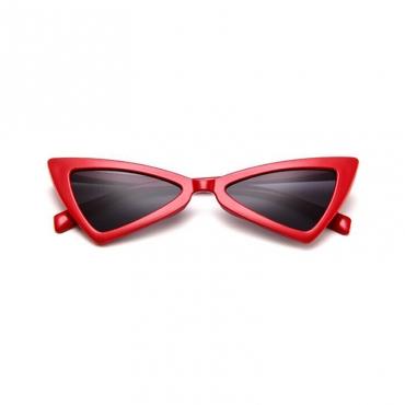 Lovely Stylish Asymmetrical Red PC Sunglasses