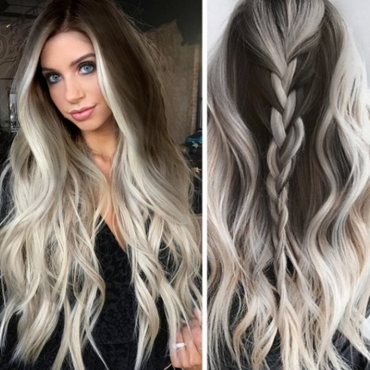 Lovely Fashion Grey Hign-temperature Wigs