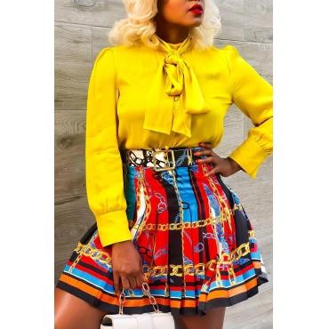 Lovely Bohemian Ruffle Design Multicolor Mini  Skirts