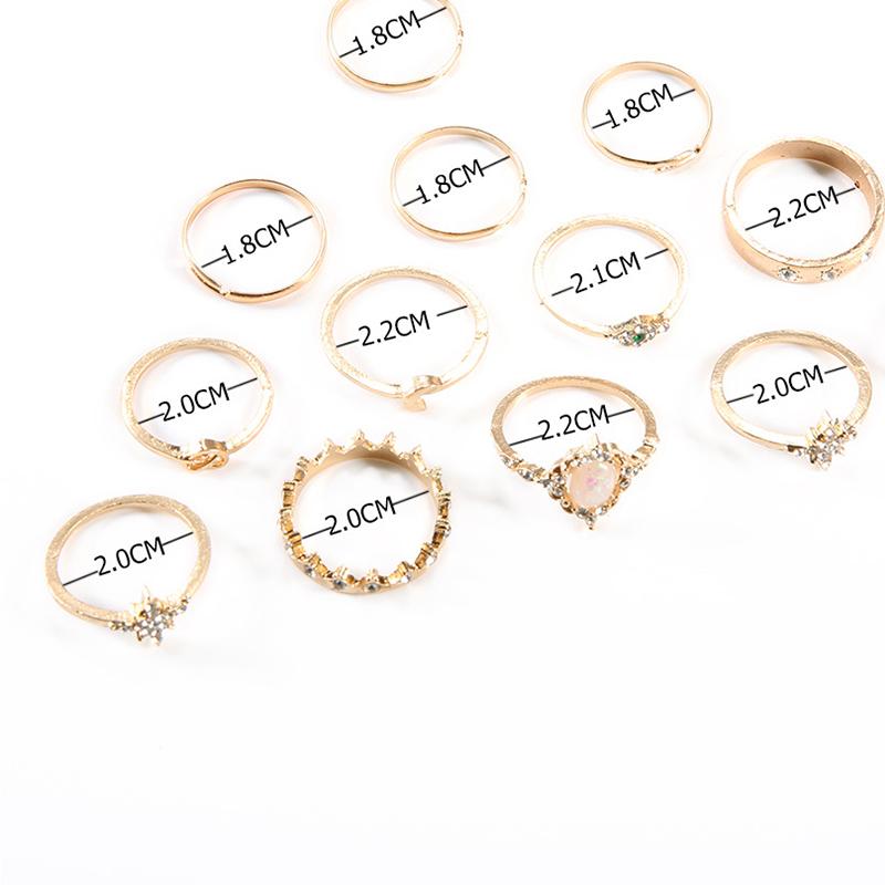 Lovely Trendy Punk Gold Alloy Ring
