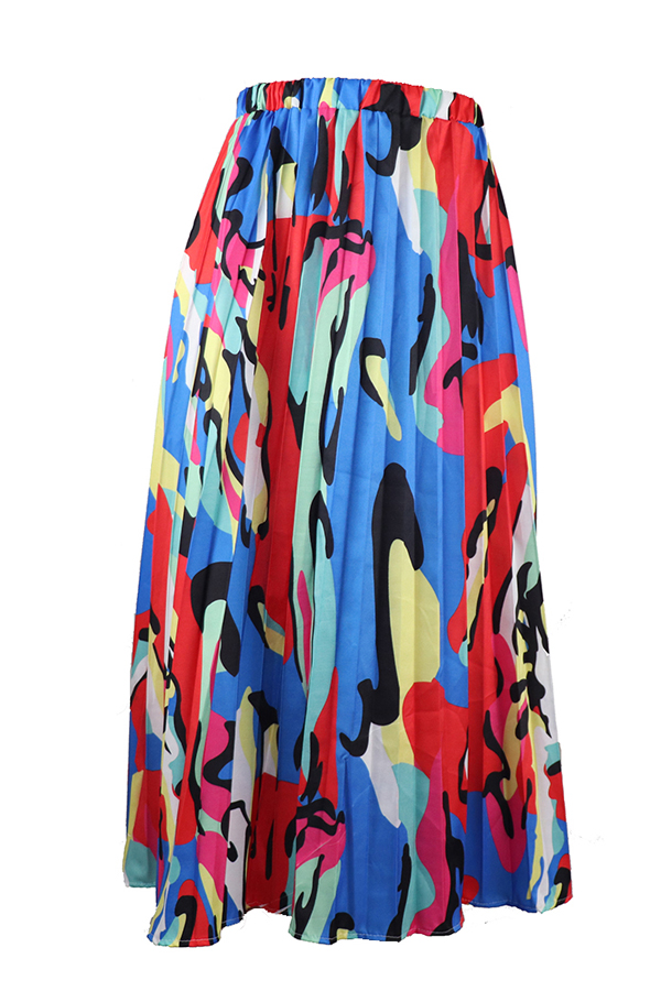 Lovely Casual Printed Ankle Length A Line Skirt