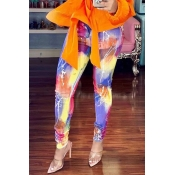 Lovely Casual High Elastic Printed Pants(With Elas