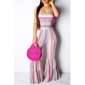 Lovely Bohemian Trumpet-shaped One-piece Jumpsuit
