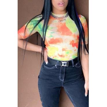 Preciosa Camiseta Casual Con Estampado Multicolor (sin Accesorios)
