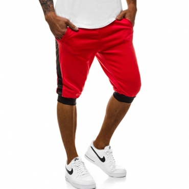 Lovely Casual Mid Waist Red Shorts