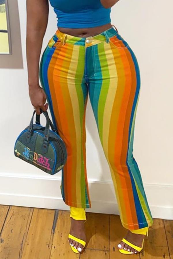Lovely Stylish Multicolor Striped Pants