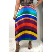 Lovely Stylish Printed Patchwork Multicolor A Line Skirt