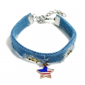 Lovely Independence Day Fashion Patchwork Blue All