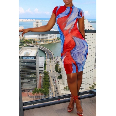 Lovely Casual Printed Knee Length Dress