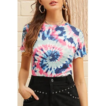 Lovely Casual O Neck Printed T-shirt
