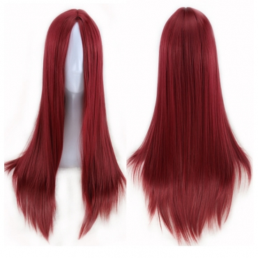 Lovely Stylish Hign-temperature Resistance Wine Red Wigs