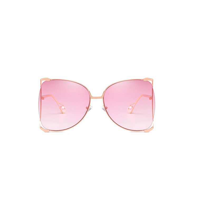 Lovely Chic Gradual Change Light Pink Metal Sunglasses