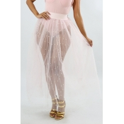 Lovely Sweet See-through White Gauze Ankle Length A Line Skirt(Without Lining)