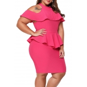 Lovely Sweet Off The Shoulder Ruffle Design Rose R