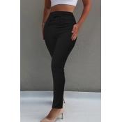 Lovely Chic High Waist Black Skinny Pants