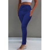 Lovely Chic High Waist Blue Skinny Pants