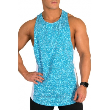 Lovely Casual Printed Blue Vest