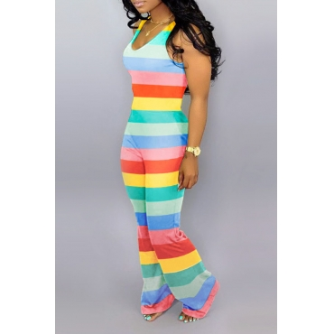 Lovely Work Striped Multicolor One-piece Jumpsuit