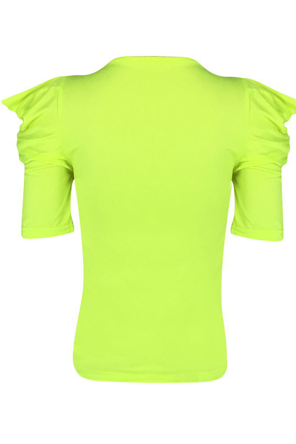 Lovely Casual O Neck Light Green T-shirt