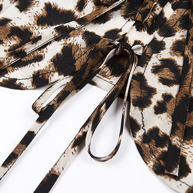 Lovely Casual V Neck Leopard Printed Blouse