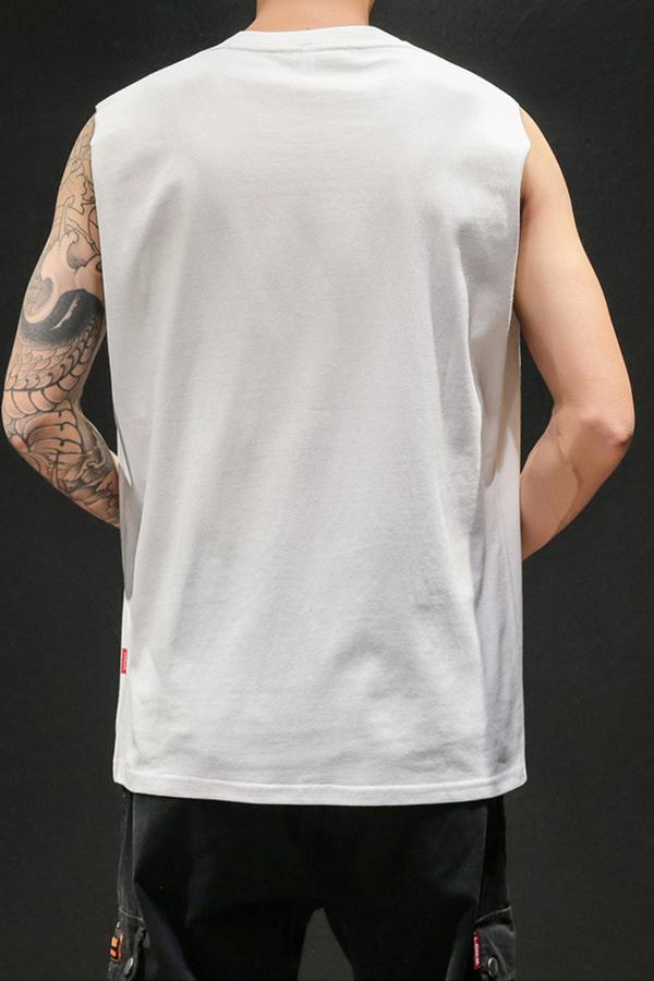 Lovely Casual O Neck Sleeveless White Vest