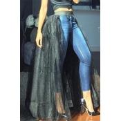 Lovely Sweet Black Floor Length Skirt