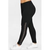 Lovely Casual Black Plus Size Leggings