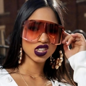 Lovely Chic Gradient Lens Big Frame Design Brown S
