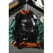 Lovely Casual Patchwork Green Sweater Hoodies