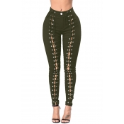 Lovely Trendy Bandage Design Jeans