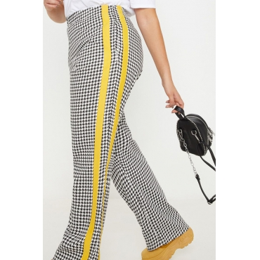 Lovely Casual Plaid Printed Patchwork Plus Size Pants