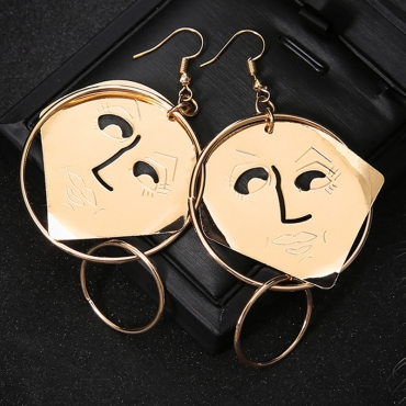 Lovely Casual Gold Metal Earring
