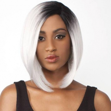 Lovely Stylish Grey Hign-temperature Resistance Wigs